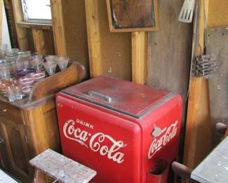 Old Coca Cola Cooler in very good condition