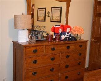 Dresser, Mirror, Lamp, Home Decor