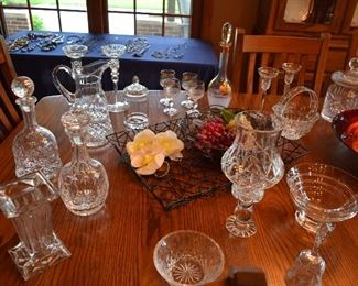 Glass Decanters, Pitcher, Candy Dishes, Stemware