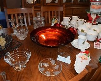 Seasonal Dishes, Glass Serving Dishes