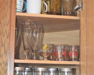Cups, Stemware, Glass Jars