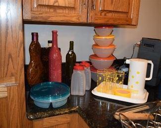 Tupperware, Beverage Set, Plastic Storage Containers, Utensils