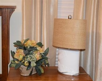 Table Lamp, Floral Piece
