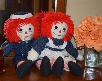 Raggedy Ann & Andy Dolls, Home Decor
