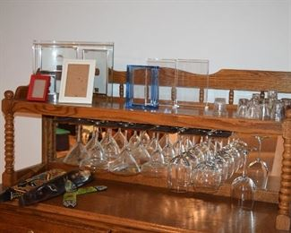 Portable Bar, Stemware, Home Decor