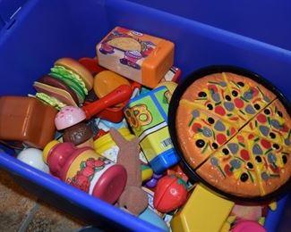 Plastic Play Food
