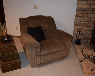 Side Chair, Firewood Holder, Fireplace Tools