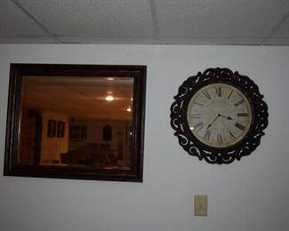 Mirror, Wall Clock