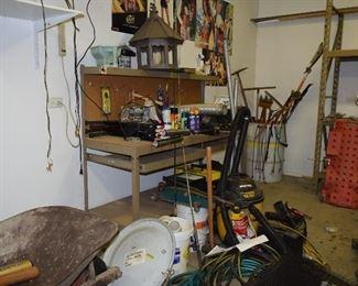 Garage Items, Shop Vac, Tools