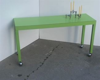70s formica rolling side table