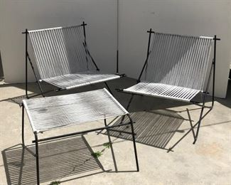 metal and rope outside furniture