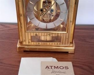 Vintage Le Coultre Atmos perpetual motion clock. Needs service. Sold on ebay for $350. Our price: $100