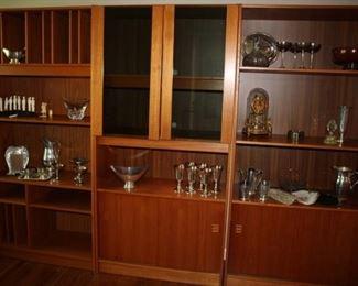 Beautiful Danish set of 3 shelves/cabinets (teak)
