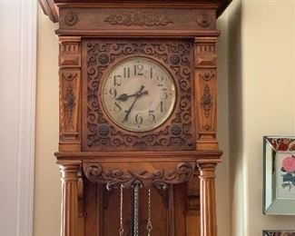 Gustav Becker Clock Harfen Gong- Grandfather Clock
