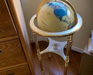 Jeweled Globe with brass base