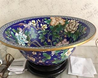 Large cloisonné bowl
