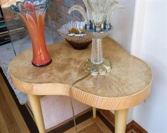 Pair Deco end tables