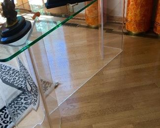 Lucite console/library table
