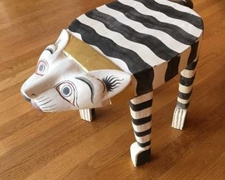 Hand made painted cat table