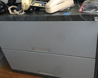 Faux painted and grey file cabinet