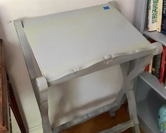 Grey painted book stand