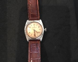 Rolex Oyster Perpetual Chronometer with copper face (1950s/60s) Works.