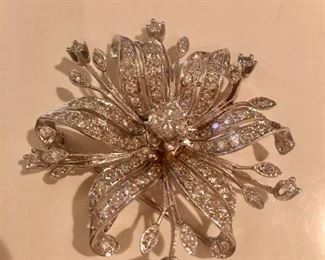 Diamond brooch