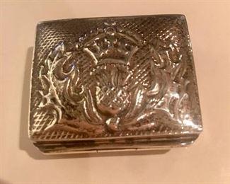 Sterling silver pill/trinket box