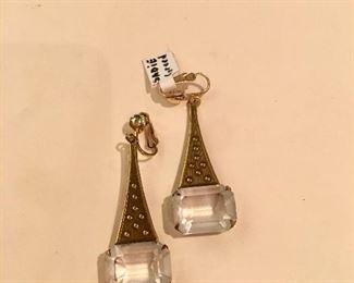 Vintage Deco-style earrings