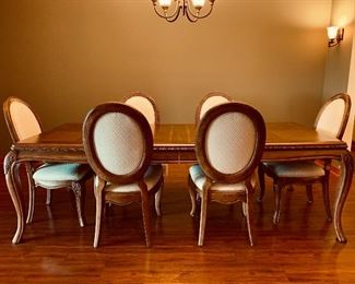 Dining room set including 6 chairs