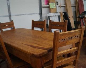 Farm table with 6 chairs