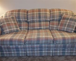 Super comfy couch, part of 3 pc set with matching chair and ottoman. $150.00 for set.