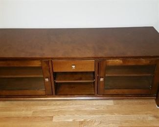 Dark wood console table: $75.00
