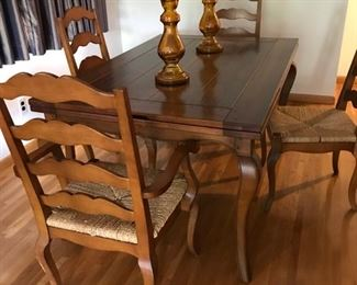 Huffman Koos dining room set with leaves and it sets 12 people  comfortable