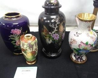 Decorative Vase Lot and Lamp https://ctbids.com/#!/description/share/161873