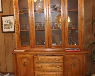 China cabinet filled with Rosenthal stemware
