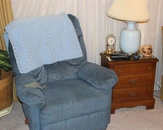 Recliner , side table