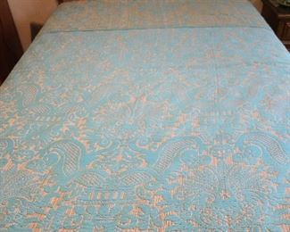 close up of bedspread