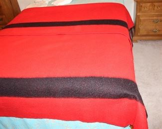 Wool Red/Black blanket