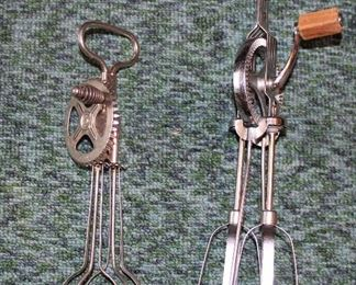 Vintage kitchen egg beaters