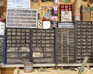 Small tool cabinets for organization.  Each one comes full of surprises!