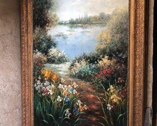 Ethan Allen Oil Painting