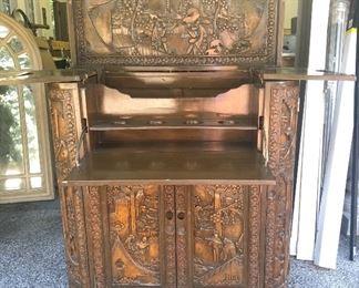 Antique Bar Cabinet