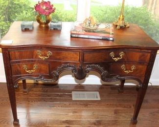 Antique mahogany desk.