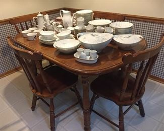 Kitchen solid wood table & chairs