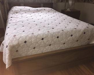 Mid century queen bedroom set no mattress