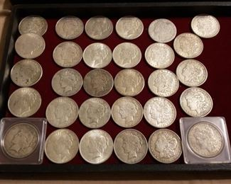 US Coin Collection, Peace & Morgan Dollars, Indian Head Pennies, 2 Cent, Mercury Dimes, More