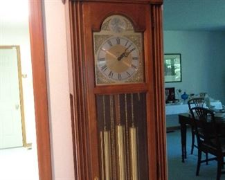 nice grandfather clock, works fine
