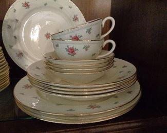 nice set of vintage dishes