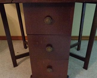 front of gate leg table